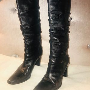 Via Spiga black leather knee high boots size 7.5